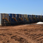 Hinson #1 Well Site - Water Containers (Frac water removal)