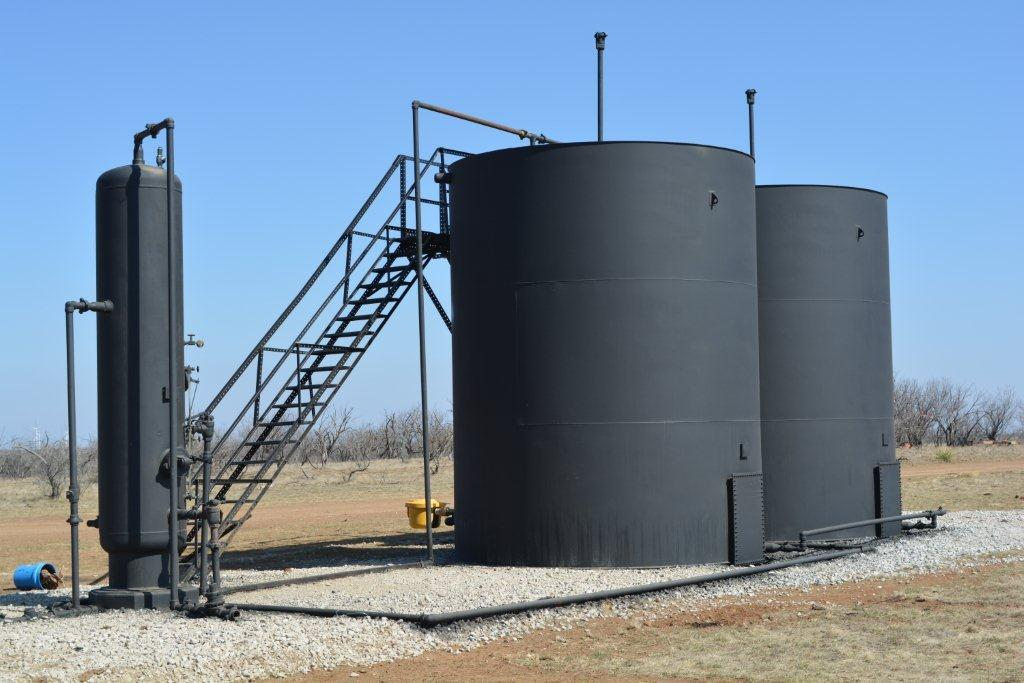 Hinson #1 Well Site - Storage Tanks