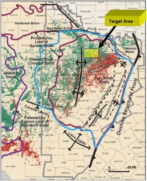 Forth Worth Basin Map